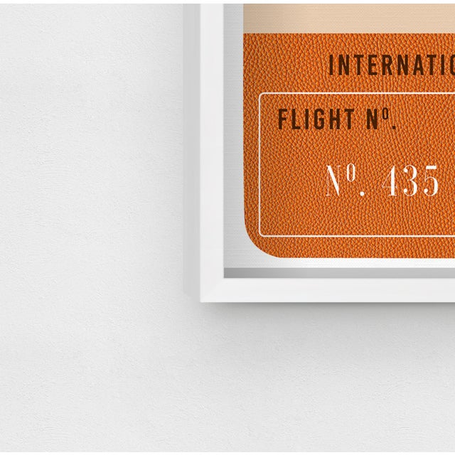Not Yet Made - Made To Order Oliver Gal 'Paris Fashion Luggage Tag' Framed Art For Sale - Image 5 of 7