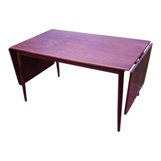 Danish Modern Rosewood Drop-Leaf Dining Table For Sale