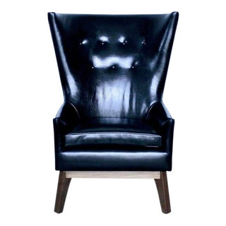 Modern Masculine Lounge Chair For Sale