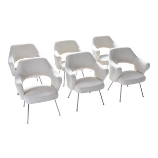 Gastone Rinaldi P16 Armchairs in Bouclé Wool For Sale