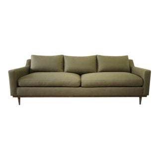 Vintage Modern Style Sofa With Down Cushions For Sale