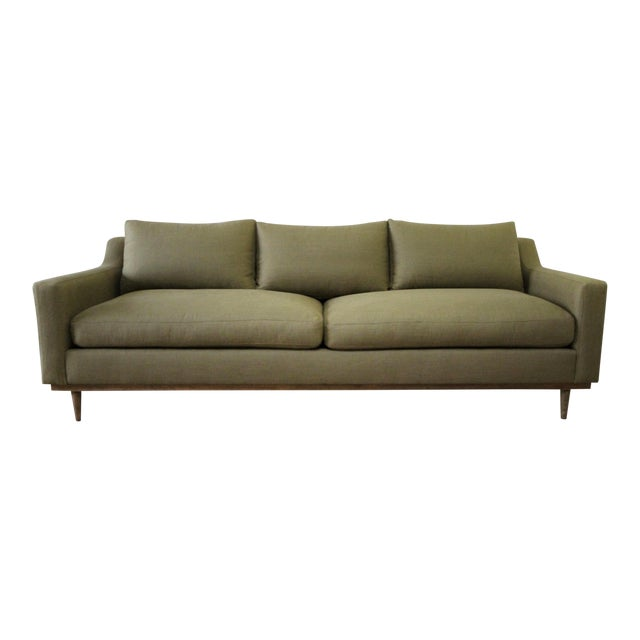 Vintage Modern Style Sofa With Down Cushions