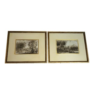 """Pair of Framed Tropical Engravings- """"The Landscape of the Dutch East India Company"""" Circa 1699 For Sale"""