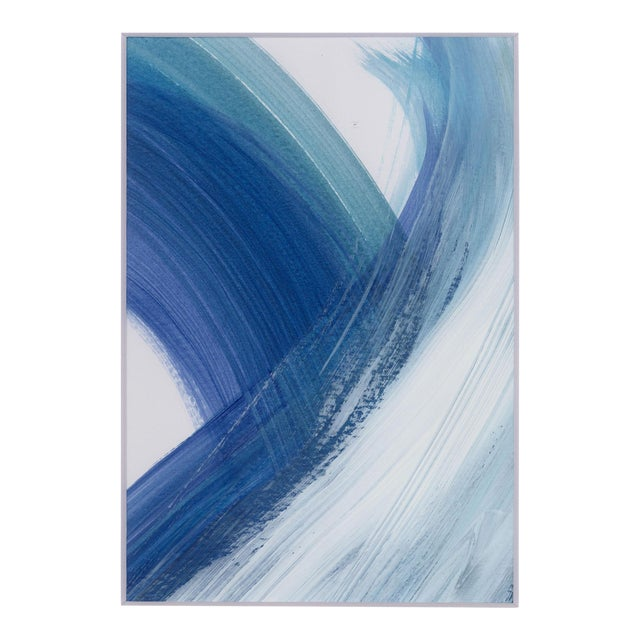"Original ""Enjoy the Ride"" Modern Abstract Minimalist Matted Acrylic Painting For Sale"