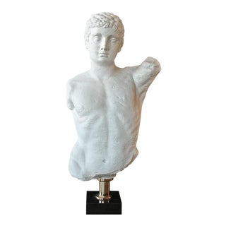 "Italian 1960s ""Etebo"" Male Bust in Plaster For Sale"