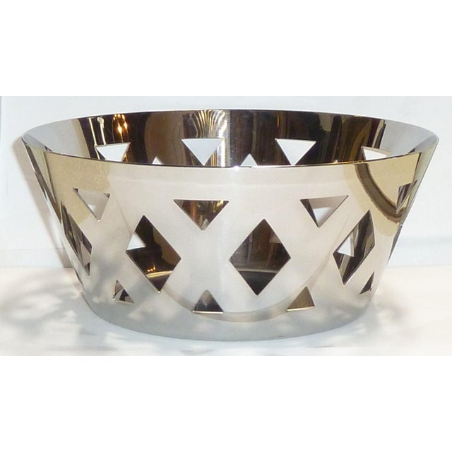 Contemporary Alessi Stainless Steel Fruit Bowl For Sale - Image 3 of 7