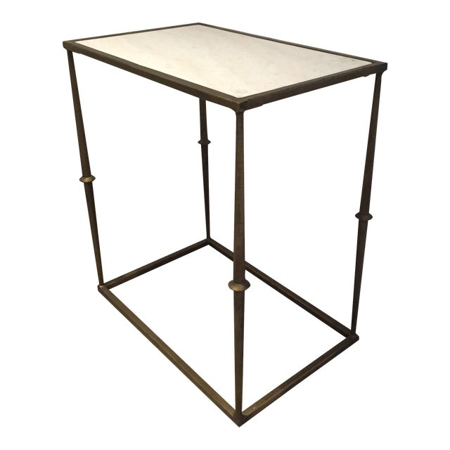 HD Buttercup Marble Top Side Table - Image 1 of 6