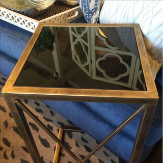 Gold Metal With Black Glass Side Table Preview
