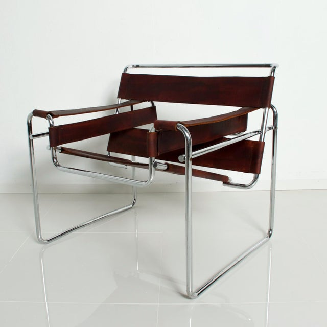 1980s Pair of Marcel Breuer Wassily Chairs for Gavina, Mid Century Modern Italy For Sale - Image 5 of 11