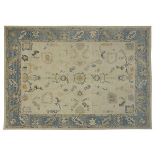 Modern Turkish Oushak Rug - 12′6″ × 17′9″ For Sale