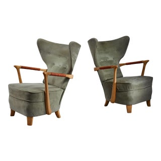 Runar Engblom pair of lounge chairs, Finland, 1940s For Sale