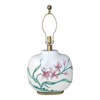 Vintage Hand Painted Chapman Lamp For Sale