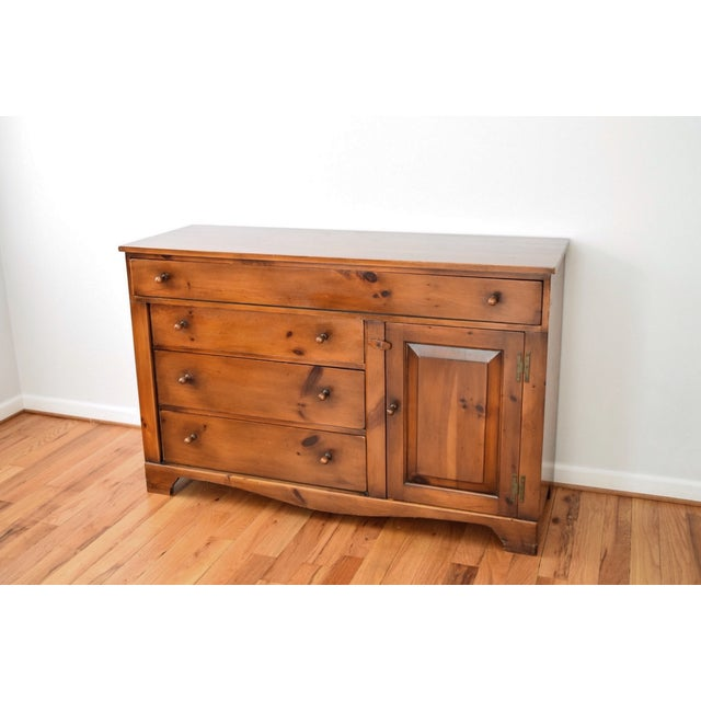 Vintage Rustic Farmhouse Pine Sideboard Buffet - Image 4 of 11