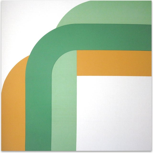 """Mid-Century Modern """"Right Angle"""" Bold Vintage 1970s Supergraphic For Sale - Image 3 of 3"""