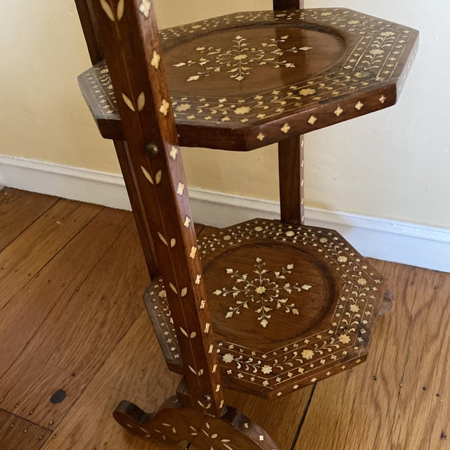 Anglo Indian Bone Inlaid Cake Stand For Sale - Image 10 of 13