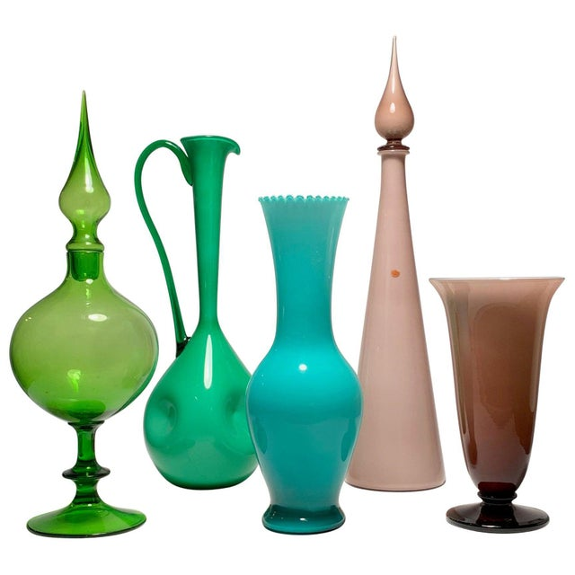 Green Empoli Glass Collection For Sale - Image 8 of 8