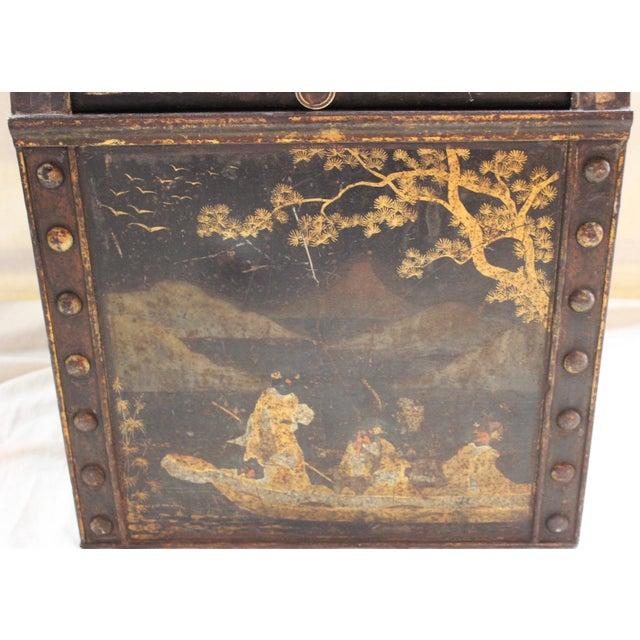 Asian Antique Tea Bin/Side Table For Sale - Image 3 of 13