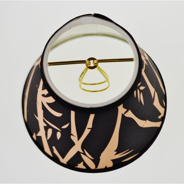 Black & Tan Bamboo Design Chandelier Shades - Set of 6 - Image 5 of 7