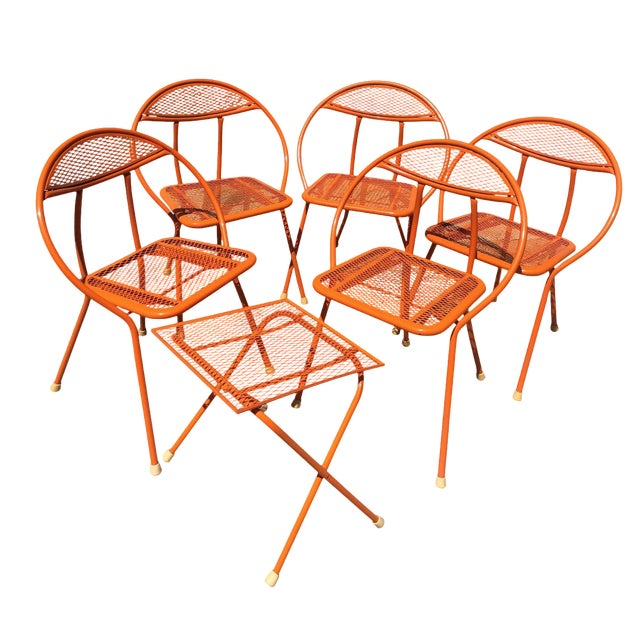 1960s Vintage Maurizio Tempestini for Salterini Hoop Seating Set- 6 Pieces For Sale