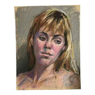 Chalk Portrait of a Girl For Sale
