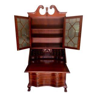 Early 20th Century Vintage Governor Winthrop Style Secretary Desk For Sale