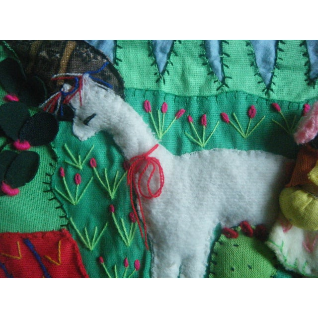 Vintage 1970s Handmade Peruvian Wall Textile - Image 3 of 7