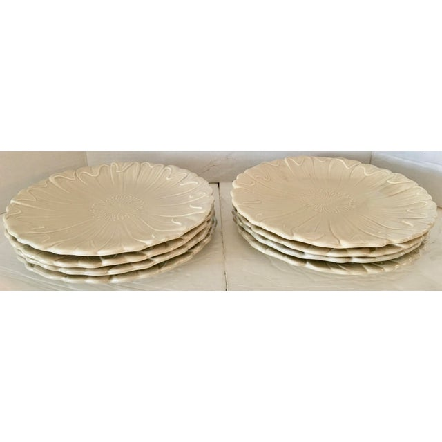 Ceramic Fitz & Floyd Art Nouveau Dinner Plates - Set of 8 For Sale - Image 7 of 8