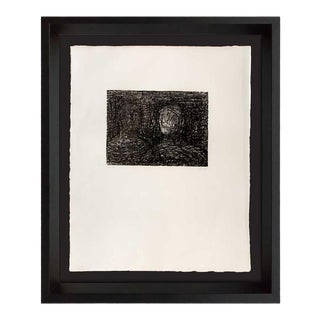 """Henry Moore Hand Signed Lithograph Original"""" Thin Lipped..."""" with Frame For Sale"""