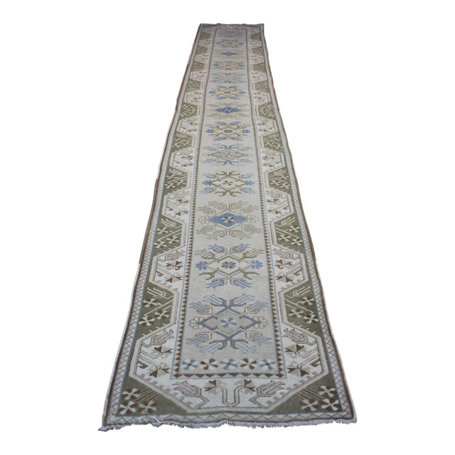 Turkish Oushak Runner - 2′7″ × 17′6″ - Image 1 of 9