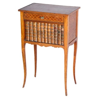 Inlaid 19c. False-front Book Cabinet/End Table For Sale