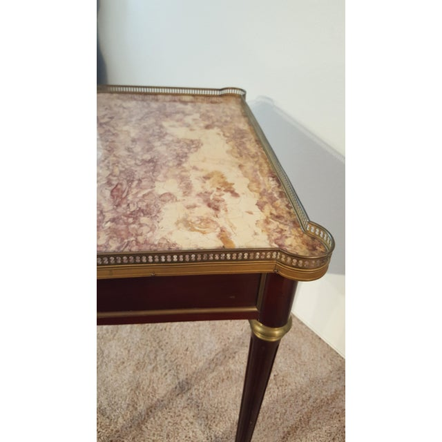 Louis XVI Style Marble Top Side Table For Sale In Phoenix - Image 6 of 12