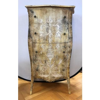 Italian Hand-Painted Tall Lingerie Chest