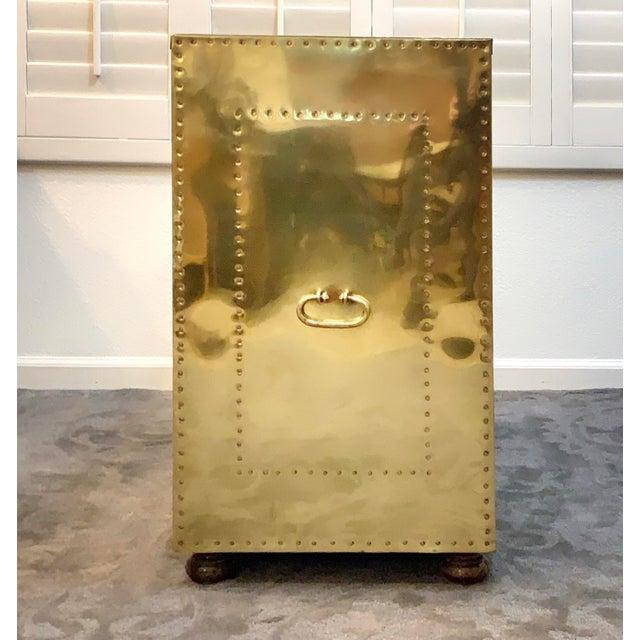 Sarreid Ltd. 1970's Vintage Brass Dresser by Sarreid Ltd. For Sale - Image 4 of 10