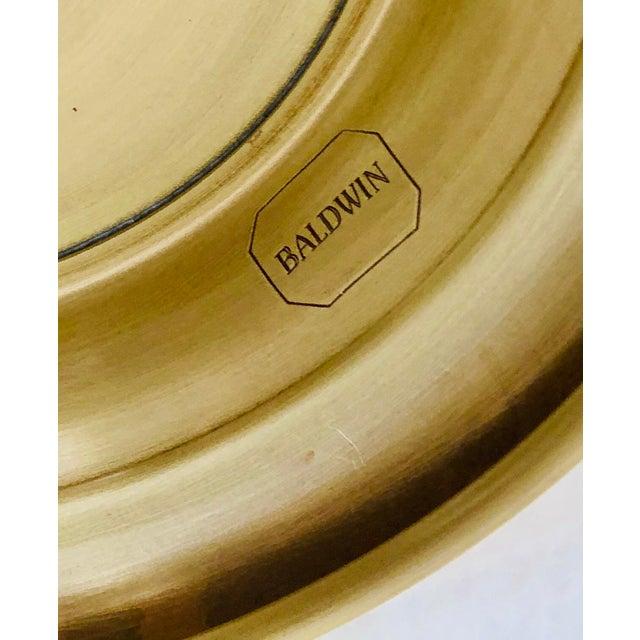 Baldwin Revere Polished Brass Pedestal Bowl For Sale - Image 9 of 10
