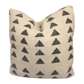 Mali Black and White Triangle Pattern Mudcloth Pillow