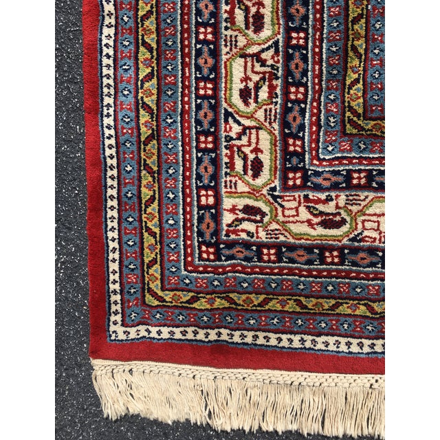 1990s Handknotted Mir Area Rug- 8′7″ × 11′11″ For Sale - Image 9 of 13