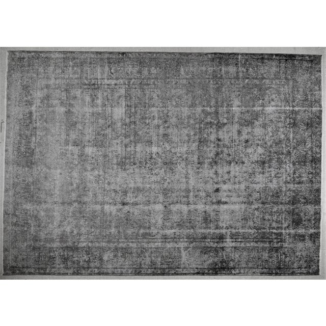 """1940s Boho Chic Persian Gray Wool Kerman Rug - 9'6""""x13'8"""" For Sale In New York - Image 6 of 6"""
