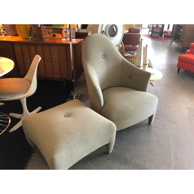 Contemporary 1990s Vintage John Hutton for Donghia Phantom Chair & Ottoman For Sale - Image 3 of 11