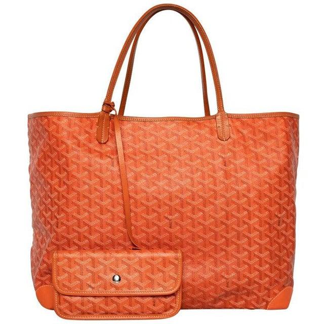 Goyard Orange St Louis Gm Chevron Tote Bag For Sale - Image 10 of 10