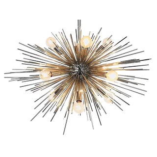 Chrome Urchin Chandelier For Sale