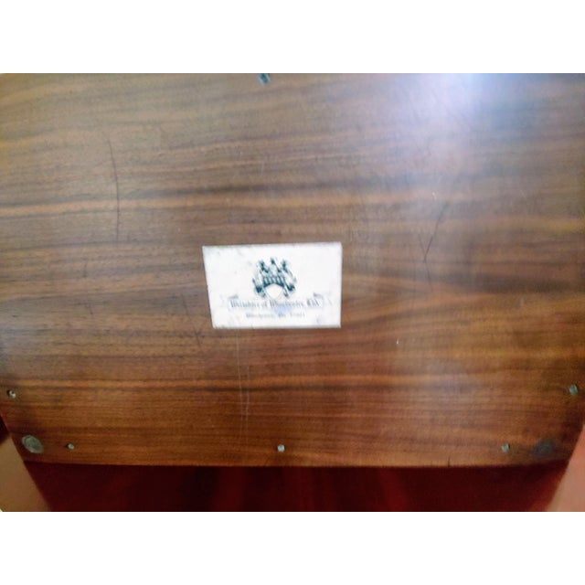 1970s Wiltshire of Winchester Mahogany Liquor Chest With Cut Glassware - 12 Piece Set For Sale - Image 5 of 7
