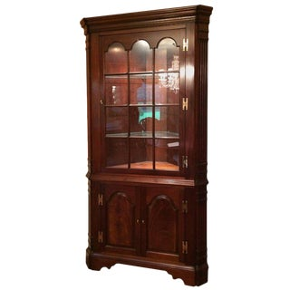 Traditional Mahogany Corner Cabinet For Sale