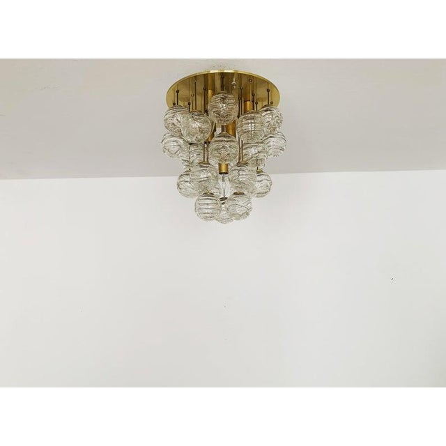 Mid-Century Modern 1960s Mid-Century Modern Bubble Murano Glass Flush Lamp by Doria Leuchten For Sale - Image 3 of 9