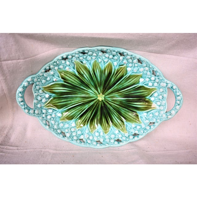 1930s Villeroy Boch Lilly of the Valley Platter For Sale - Image 10 of 10