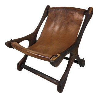 """1960s Don S. Shoemaker """"Sloucher"""" Soild Rosewood Lounge Chair For Sale"""