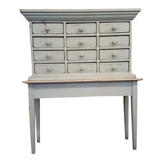 1980s Shabby Chic Painted Postmaster's Desk For Sale