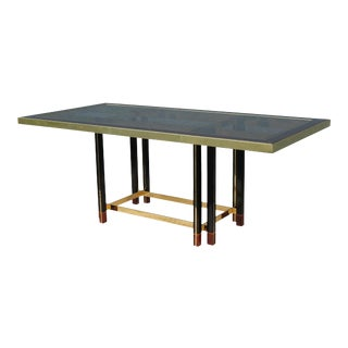 "Paola Barachia ""Roman Deco Spa"" Italian Mastercraft Style Dining Table For Sale"