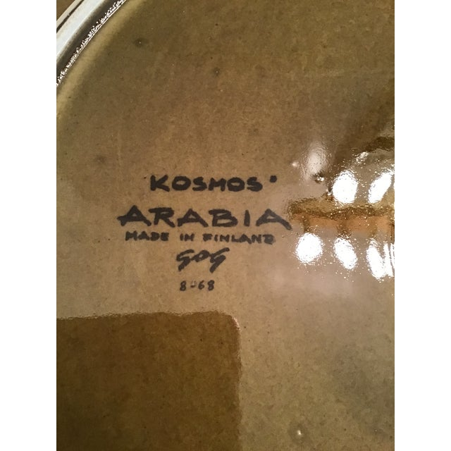 Arabia Mid-Century Arabia Finland Kosmos Platter by Gunvor Olin-Gronqvist For Sale - Image 4 of 9
