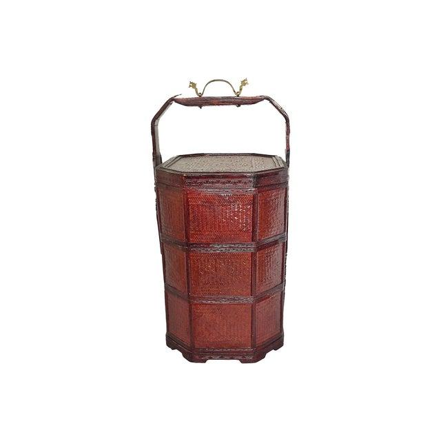 Vintage 3-Tier Chinese Wedding Basket - Image 7 of 7