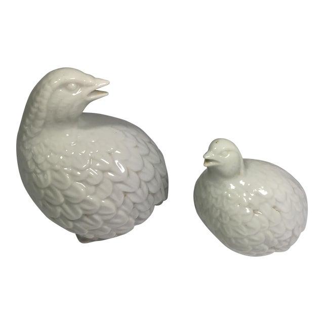 A Pair of Vintage Porcelain Partridge Birds - Image 1 of 8
